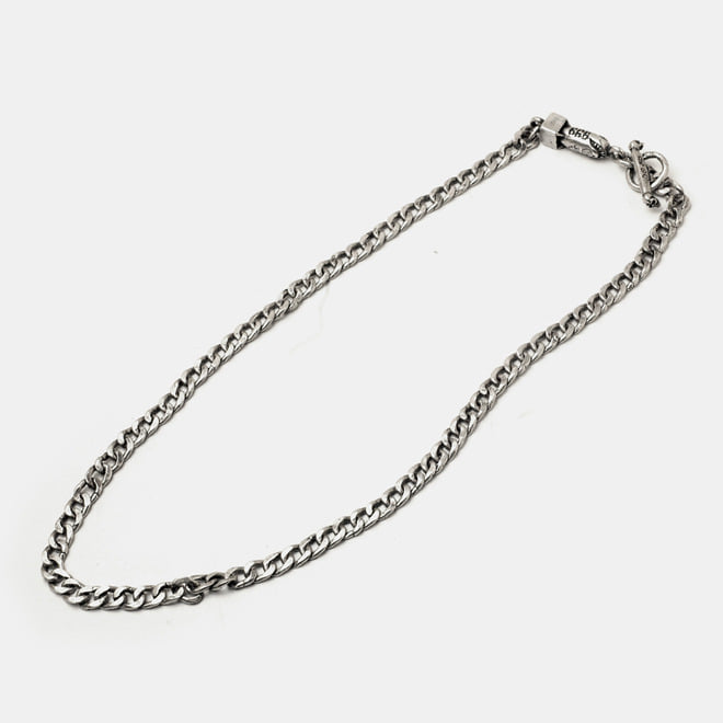 576 Chain Silver Necklace with Bomb