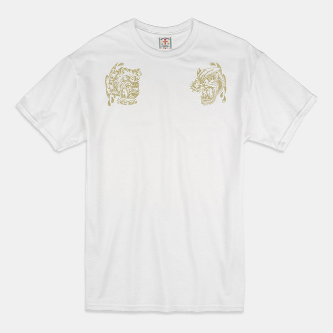 [예약할인 20%] Angry Animals T-Shirts white/beige