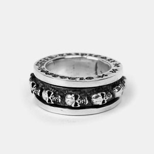 [Studio Edition] Skull Spinner Silver Ring Single Size