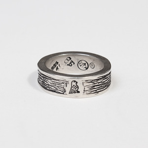 Bird Icon Wooden Ring