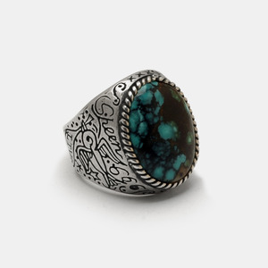 Sparrow Turquoise Silver Ring