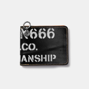 575 Leather Wallet #040 BF Craftmanship Stencil black