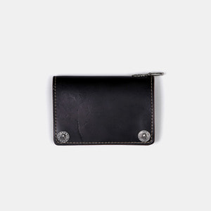575 Leather Wallet #044 Horse Strips Special black