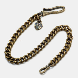 Brass Lock Wallet Chain