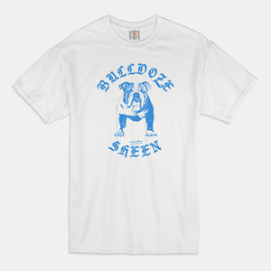 [예약할인 20%] Bulldoze T-Shirts white / light blue