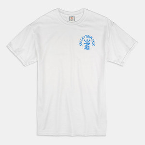 [예약할인 20%] S.T. Parody T-Shirts white / light blue