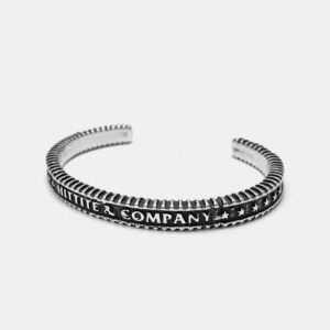 Script Coin Silver Bangle