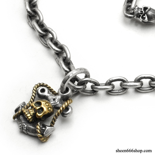 Anchor Pendant with O ring small Silver Necklace