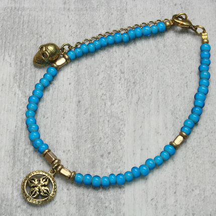 Anklet Blue Beads