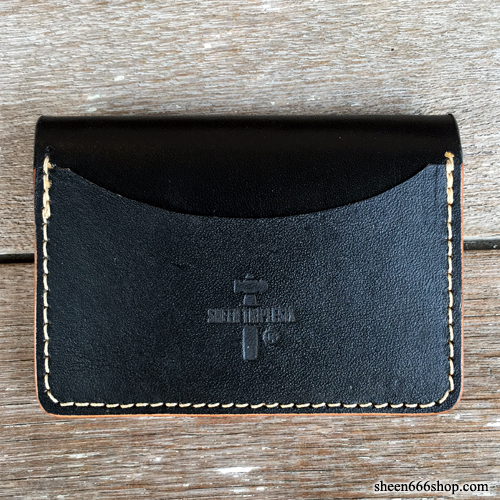 575 #049 LTD Card Holder Cow Leather black/natural
