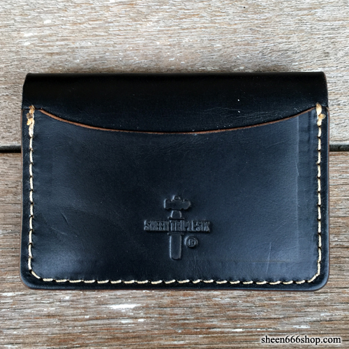 575 #055 LTD Card Holder Horse Leather black